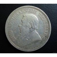ZAR, Трансвааль (Южно-Африканская Республика). 2,5 шиллинга 1894 г. Пауль Крюгер.