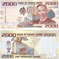 Сьерра-Леоне 2000 леоне 2016 год  UNC