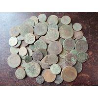 Монеты Российской Империи, сборный лот, медь
