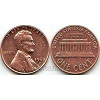 США 1 цент 1963 D