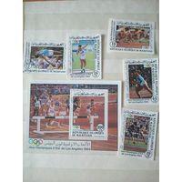 Мавритания. Олимпийские игры. Лос-Анжелос-84. Сер. 5 м., 1 бл.