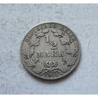 Германия 1/2 марки 1906 D (Мюнхен) 2