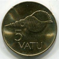 (A5) ВАНУАТУ - 5 ВАТУ 1990 UNC