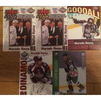 Хоккейные Карточки. 5 штук. Из разных серий. Марцел Хосса.