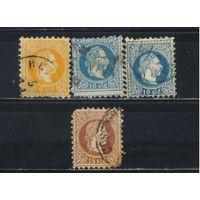 Австро-Венгрия Почта за рубежом Османская Имп. 1867 Франц Иосиф Стандарт #1I,4Ia,4Ib,5Ia