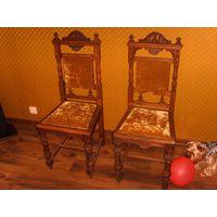Старинные дубовые стулья пара 1
