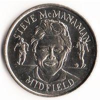Монетовидный жетон Английской футбольной Премьер-лиги 1998 год Стив Макманаман