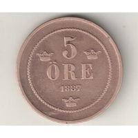 Швеция 5 эре 1887