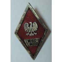 """Ромб за окончание военного училища """"WSO WP"""" 50-е годы. Польша."""