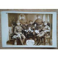 Беларуские хлопцы в рядах польской армии. Фото 1926 г. 9х13.5 см