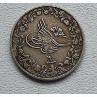 """Египет 2/10 кирша, 1909, Султан Мехмед V,под тугрой цифра """"6"""" 7-5-59"""