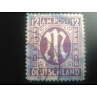 Германия 1945 Бизония британская печать
