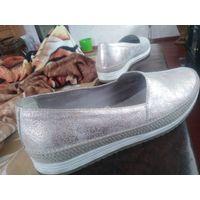 Туфли макасины балетки кожа лазер из Испании р.39