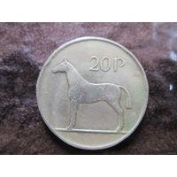 СЕВЕРНАЯ ЕВРОПА ИРЛАНДИЯ 20 пенсов 1986 Лошадь Ирландская Охотничья