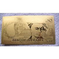Франция Золотая банкнота 50 франков 1987г. распродажа