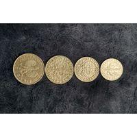 Польша набор из 4х монет: 10, 20 и 50 грошей 1923г, 1 злотый 1929г. С рубля.