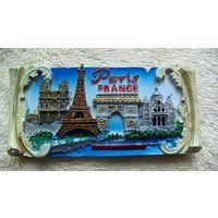 "Магнит на холодильник ""Париж. Франция"". цветная. распродажа"