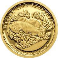 """Палау 1 доллар 2011г. """"Анемон"""". Монета в капсуле. ЗОЛОТО 1 гр."""