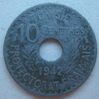 Тунис (Французский протекторат) 10 сантимов 1942 г.