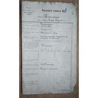 """Документ """"Послужной список работника железных дорог"""" (1894 -1920 гг.)"""