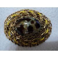 Винтажная брошь, Осенний этюд ( латунь, эмаль, вставки 1960 – 1969) , лот 9