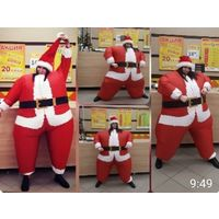 Костюм деда Мороза Санта Клауса. Надувной. Англия