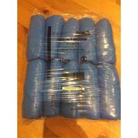 Бахилы текстурированные Ansell, полиэтиленовые, 50 пар в упаковке.