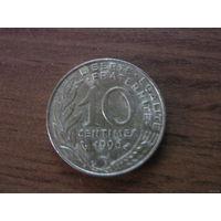 Франция 10 сантим 1996
