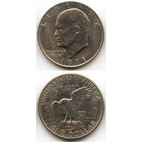 США 1 доллар 1971 г. (Без буквы, USA, Америка)