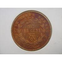 Британское Северное Борнео 1 цент 1884г.не частый год