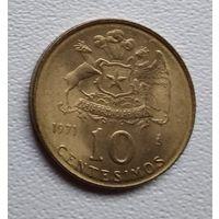 Чили 10 сентесимо, 1971 6-1-4