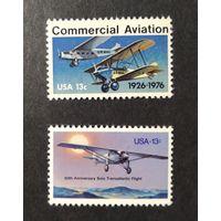 США \795\1976-77  Авиация - Самолеты-Самолет Линдберга MNH