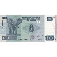 Конго 100 франков 2013 (ПРЕСС)