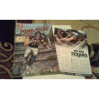 Официальный комикс и календарь игр 2015 команды НФЛ Houston Texans (американский футбол)