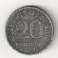 Польша 20 фениг 1918 оккупация