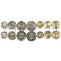 Эквадор 7 монет 1988-1997 годов.