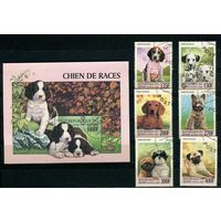 Бенин 1998г, собаки, 6м. 1 блок