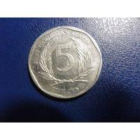 Карибы (Карибские острова) 5 центов 2008 г.