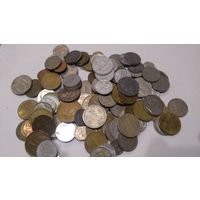 Сборный лот монет мира 390 гр. 132 шт. с 1 рубля 19#04