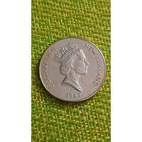 Новая Зеландия 20 центов 1987 г ( фауна , птица киви )