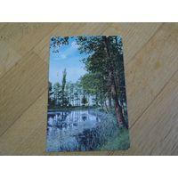 """Старинная открытка (почтовая карточка - открытое письмо) """"Лесное озеро"""", Царская Россия."""