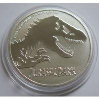 "Ниуэ 2020 серебро (1 oz) ""Парк юрского периода"""