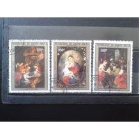 Верхняя Вольта 1983 Рождество, живопись Рубенса Полная серия