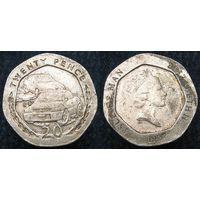 W: Остров Мэн 20 пенсов 1997 (160)