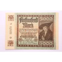 Германия, 5000 марок 1922 год, aUNC