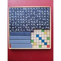 Эрудит дорожный. Игра магнитная, все буквы на магнитах, доска металл. Размер коробочки 12,6*12,6*1,2 см.