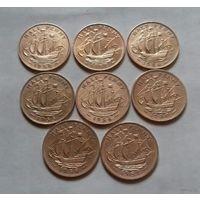 1/2 пенни, Великобритания погодовка 1950-х