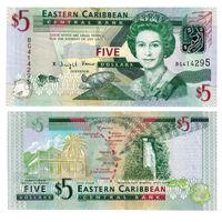 Восточные Карибы 5 долларов образца 2008 года UNC p47