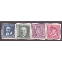 Чехословакия Респ 1935 Бенеш Масарик Стандарт #348-351** (СЛ2