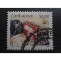 Зимбабве 2000 стандарт, изделия из кожи Mi-2,0 евро гаш.